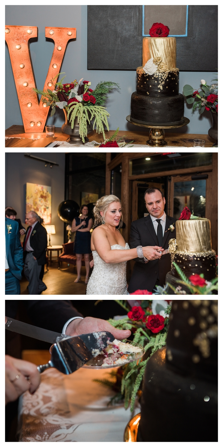... Candlelight Reception Asheville Wedding Cakes, Ruth And Ranshaw Bakery,  Gold Fondant Cake, Black And Gold ...