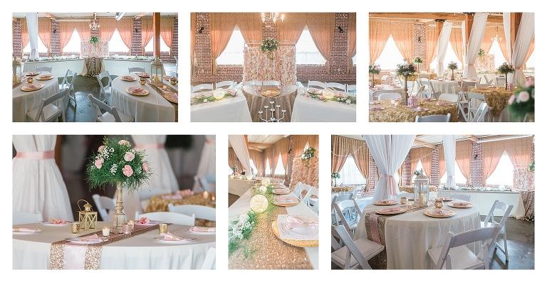 Blush And Gold Wedding Reception Asheville Wedding
