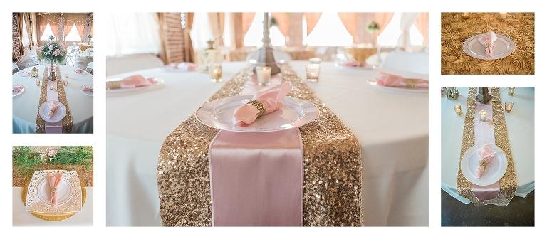 Blush And Gold Wedding Reception Asheville Wedding Photography